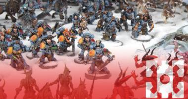 Space Wolves vs daemons